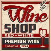 Wine Shop Retro Poster