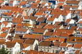 Rooftops in Nazare, Portugal