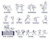 Illustration of variety of sports