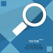 Search magnifier. Flat modern web design on a flat geometric abstract background