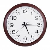 Fifteen Minutes To Six Hours On A Large Clocks