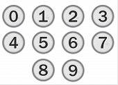 Typewriter Keys Numbers