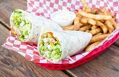Vegetable Wraps with Fries