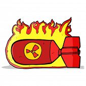 foto of nuclear bomb  - cartoon nuclear bomb - JPG