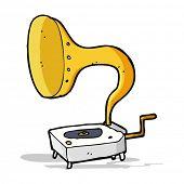 cartoon gramophone