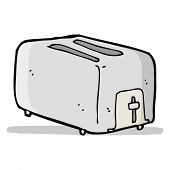 cartoon toaster