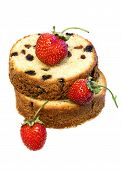 Fresh Baked Cake With Strawberries