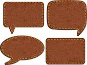 Set of jeans leather labels. Vector