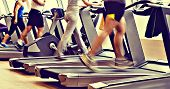 picture of treadmill  - retro vintage gym shot  - JPG