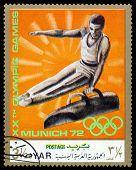 Vintage  Postage Stamp. Gymnast.