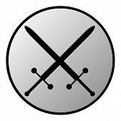 Crossed Swords Button