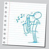 Jazz player saxophonist