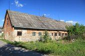 Abandoned farm building