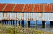 Old Weathered Boathouse