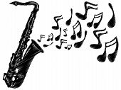 Sax Notes BW