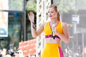 NEW YORK-AUG 8: Recording artist Iggy Azalea performs in concert at NBC's