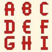 Ribbon Red Alphabet