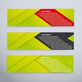 Banner set with green colors - vector illustration