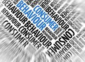 Marketing background - Consumer Behaviour - blur and focus