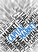 Marketing background - Capital Market - blur and focus