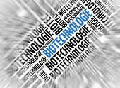 German marketing background - Biotechnologie (Biotechnology) - blur and focus