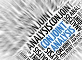 Marketing background - Conjoint Analysis - blur and focus