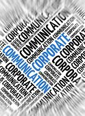 Marketing background - Corporate Communication - blur and focus