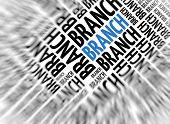 Marketing background - Branch - blur and focus