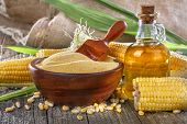 Corn, grits and corn oil
