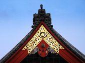 Swastika on a Buddhist temple.