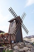 Decorative Windmill - Wood Sculpture