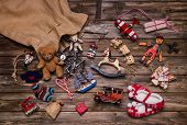 stock photo of old boat  - Christmas memories in childhood - JPG