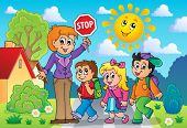School kids theme image 2 - eps10 vector illustration.