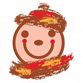 Smiling Face In Warm Colors