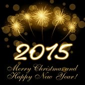 2015 Merry Christmas and Happy new year vector design
