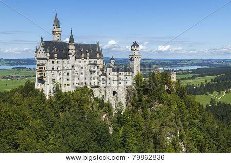 Neuschwanstein Castle Amongst Green Trees