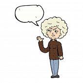 cartoon old lady