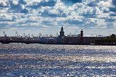 Russia. Saint petersburg. Silhouette of