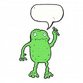 cartoon frog with speech bubble