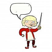 cartoon duelist with sword