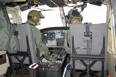 cockpit of the helicopter