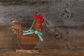 Funny Welcome Chicken Rooster Country Cottage Kitchen Wood Shape Decoration