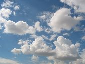 Cumulus clouds and blue sku
