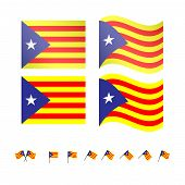 Catalonia Pro-independence Flags