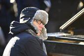 Colin Huggins plays piano
