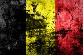 Belgium flag on dirty paper