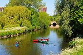 Canoes on the river, Tamworth.