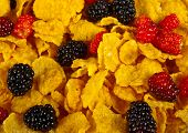 Corn Flakes & Mixed Berries