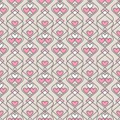 Seamless vector pattern of Hearts.