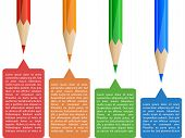Colorful pencil infographics